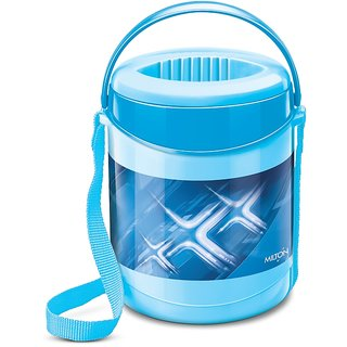 Milton Insulated Lunch Box / Tiffin With Leak Lock Steel Containers, 3 Pc Containers, Blue