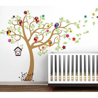 Decor Villa Wall Sticker (yello tree,Surface Covering Area 44 x 59 Inch)