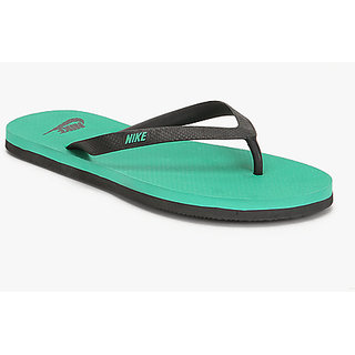 Nike Mens Black Green Flip Flops