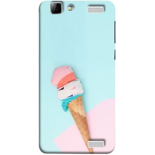 FUSON Designer Back Case Cover for Vivo V1 Max (Colourful Ice Cream Toy Baby Babies Chilling)