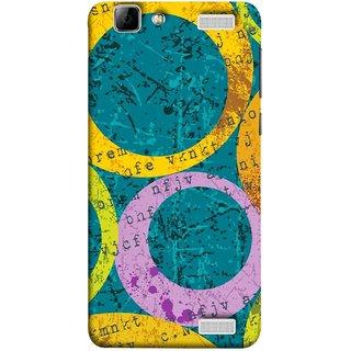 FUSON Designer Back Case Cover for Vivo V1 Max (Nila Pila Circles Tiles Bright Cool Typography )
