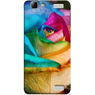 FUSON Designer Back Case Cover for Vivo V1 Max (Rose Colours Red Pink Yellow Blue Lovely Roses)