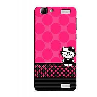 FUSON Designer Back Case Cover for Vivo V1 Max (Small Cute Pink Red Paper Bubbles Circles Valentine)