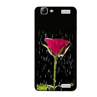 FUSON Designer Back Case Cover for Vivo V1 Max (Red Rose Love Pink Water Raining Flowers )
