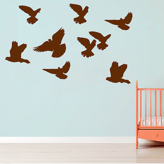 Decor Villa Wall Sticker ( Bird Family ,Surface Covering Area 36 x 23 Inch)