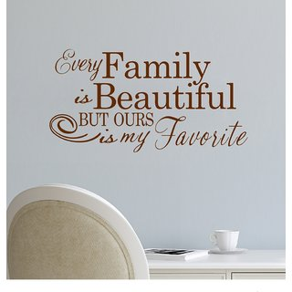 Decor Villa Wall Sticker (Every family ,Surface Covering Area 44 x 23 Inch)