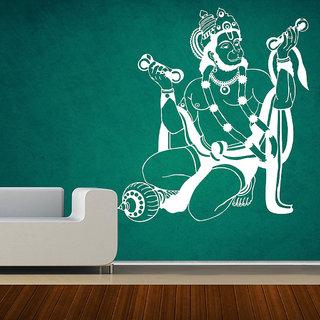 Decor Villa Wall Sticker ( Lord Shri Hanuam ,Surface Covering Area 17 x 19 Inch)