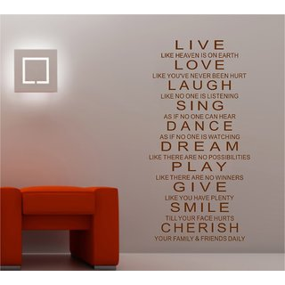 Decor Villa Wall Sticker (Sing dreems ,Surface Covering Area 17 x 34 Inch)