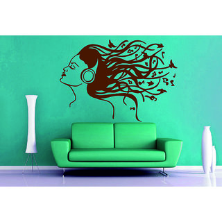 Decor Villa Wall Sticker (Girl in the air ,Surface Covering Area 24 x 17 Inch)
