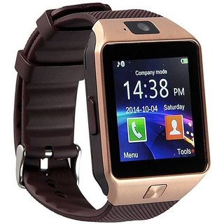 Bingo T30 smartwatch with SIM SLOT, 32 GB MEMORY CARD SLOT and FITNESS TRACKER- Gold