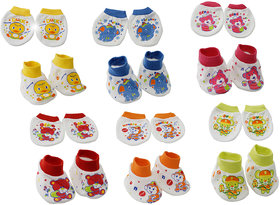Aarushi Cotton Baby Booties and Mittens Pack of 6