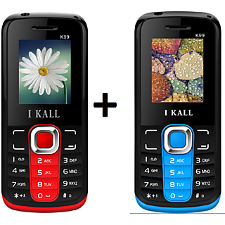 Set of 2 IKALL K99 Multimedia Mobile alongwith 1 Year Manufacturing Warranty