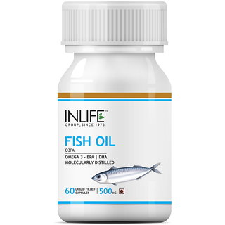 INLIFE Fish Oil (Omega 3) 500 mg 60 Capsules