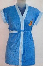 KIDS Bathrobe Gown (BLUE)