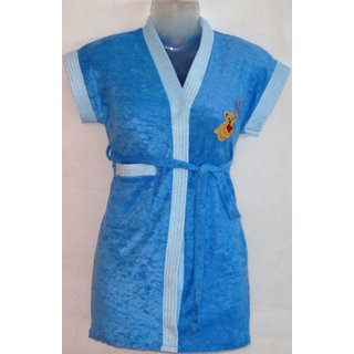 KIDS Bathrobe Gown (BLUE)