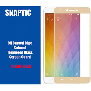 Redmi Note 4 Limited Edition 9H Curved Edge Gold Tempered Glass Golden
