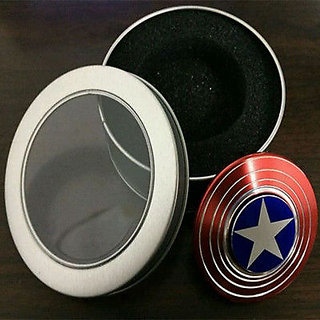 Buy Captain America Shield Metal Hand Spinner Fidget Stress Reducer 2-3 min spintime Online - Get 70% Off