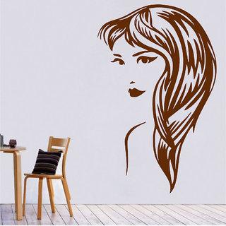 Decor Villa Wall Sticker (Swirl Girl ,Surface Covering Area 23 x 37 Inch)