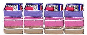 Kuber Industries Non woven Saree cover Set of 12 Pcs /Wardrobe Organiser/Regular Clothes Bag