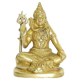 Brass Metal Shankar Medium In Size Sitting By Bharat Haat BH02847