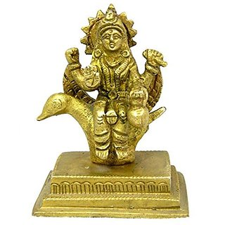 Pure Brass Metal Barhmani Maa Statue In Fine Finishing And Decorative Art By Bharat Haat BH04001