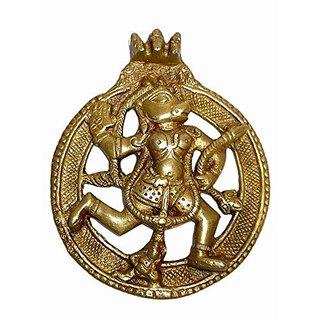 Brass Metal Hanuman Plate Medium In Size Statue By Bharat Haat BH01565