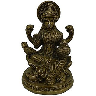 Made With Brass Metal Laxmi Sitting Medium In Size By Bharat Haat BH02863