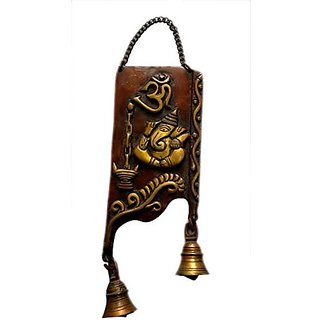 Pure Brass Metal Ganesh Wall Hanging By Bharat Haat BH04659
