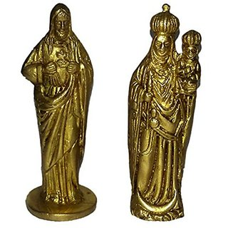 Brass Metal Jeuses & Mother Small Baby Pair By Bharat Haat BH01351