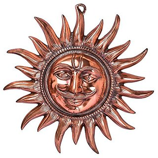 Pure Black Metal Sun Wall Hanging And Decorative Art By Bharat Haat BH05006