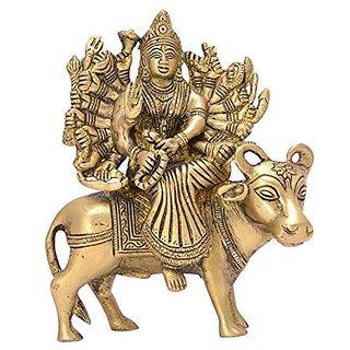 Goddess Varahi On Buffalo Classic Worshiping Brass Idol Decorative Piece By Bharat Haat BH05626
