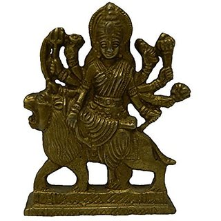 Brass Metal Ambe Maa Small In Size By Bharat Haat BH02683