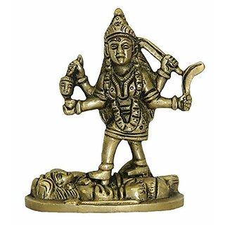 Brass Metal Standing Maha Kalika Devi Art By Bharat Haat BH02848