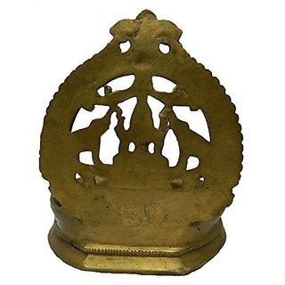 Brass Metal Gaj Laxmi Diya Medium In Size By Bharat Haat BH02662