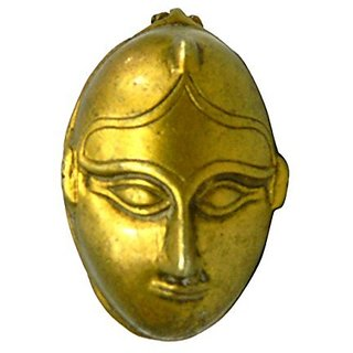 Pure Brass Metal Kankawati Man Face Statue In Fine Finishing And Decorative Art By Bharat Haat BH03803