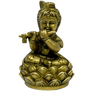 Pure Brass Metal Bal Krishna In Fine Finishing And Decorative Art By Bharat Haat BH04237