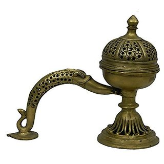 Pure Brass Metal Dhup Box In Fine Finishing And Decorative Art By Bharat Haat BH03907