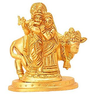 Decorative Brass Statue Of Radha Krishna Handicrafts Product By Bharat Haat&Trade; BH05798