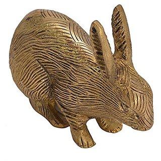 Pure Brass Metal Rabbit In Fine Unique Stunning And Decorative Art By Bharat HaatNbspBH05596