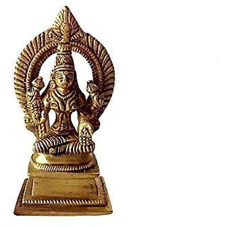 Artistic Statue Of Religious Goddess Laxmi Devi In Fine Finishing In Brass Metal By Bharat Haat BH00070