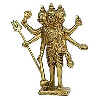 Brass Metal Lord Datta Tray Medium In Size Statue In Fine Finishing And Carving Work India By Bharat Haat BH00783