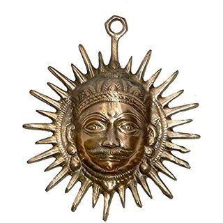 Made With Brass Material Sun In Small Black Metal In Handicraft By Bharat Haat BH02920