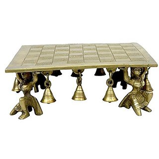 Pure Brass Metal Square Bajath In Fine Finishing In Decorative Art By Bharat Haat BH03906