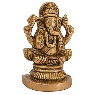 Ganesh Brass Idol Handicraft By Bharat Haat BH05298