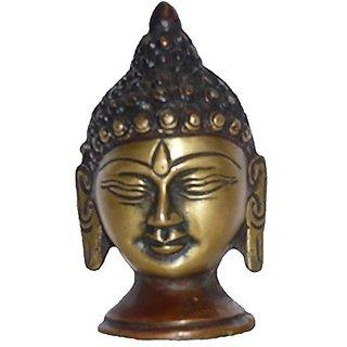 Brass Metal Buddha Face Statue By Bharat Haat BH01635
