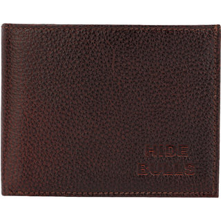 Bulls Hide Men Brown Genuine Leather Wallet