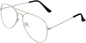 Zyaden Silver Aviator Eyewear Frame