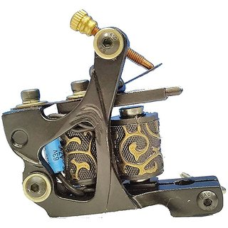 Crazy Cart Alloy Frame Basic Tattoo Machine Black with 10 RAP Coil