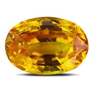 Best quality 100 Natural 7.25 ratti Yellow Sapphire Ceylon Mined Pukhraj by Akshay Gems by the gallery of gemstone