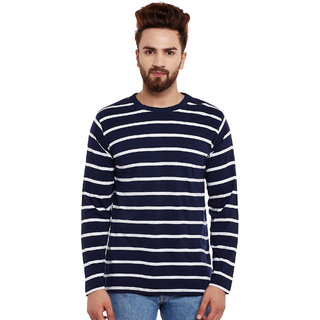 Hypernation Striped, Round Neck Men's T-Shirt